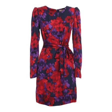 TWIN SET 202TT235105638 FLOWERS VIOLET/ROSSO V